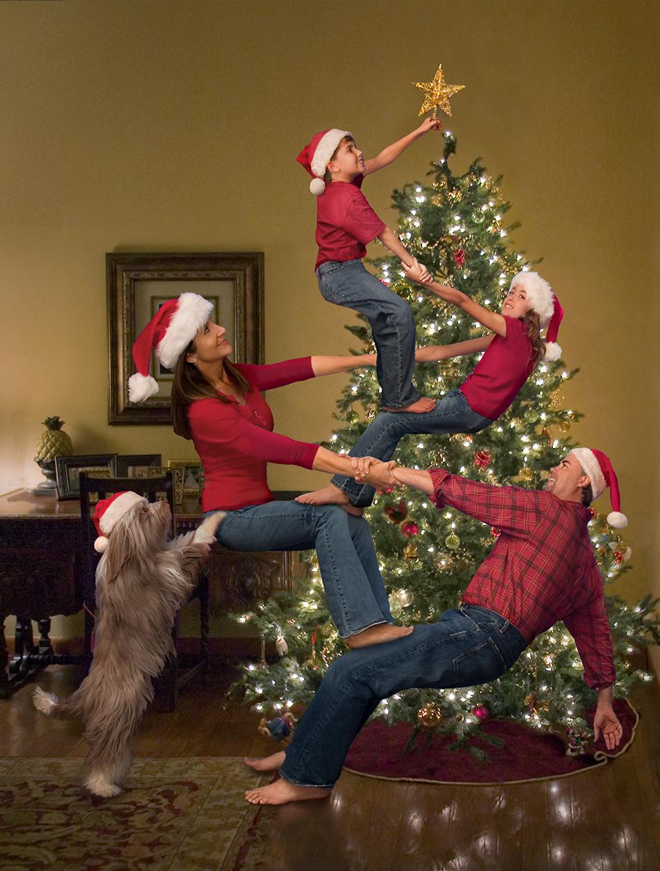 foto navideña en familia